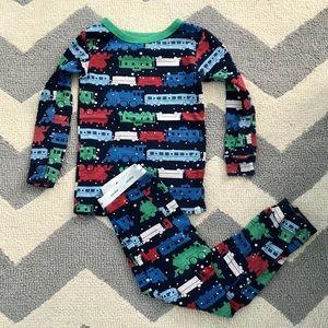 Baby Gap Christmas Train pajamas 3 years